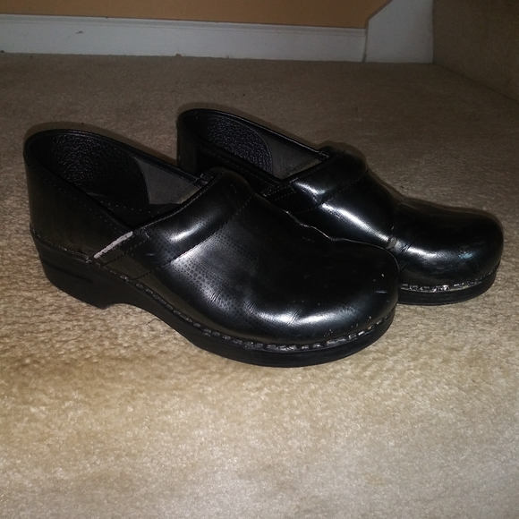 Dansko Shoes | Black And Gray Clogs